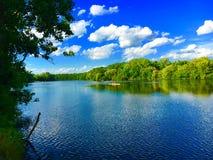 Rowers Na rzece Fotografia Stock