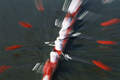 Rowers on River. Abstract view of rowing crew, Cambridge, Massachusetts Royalty Free Stock Image