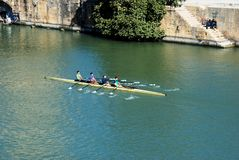 Rowers on the river, Seville. Stock Images