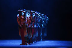 Rowers-The second act of dance drama-Shawan events of the past Royalty Free Stock Photography