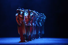 Rowers-The second act of dance drama-Shawan events of the past Stock Images