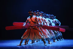 Rowers-The second act of dance drama-Shawan events of the past. Guangdong Shawan Town is the hometown of ballet music, the past focuses on the historical Stock Image