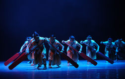 Rowers-The second act of dance drama-Shawan events of the past Royalty Free Stock Photo