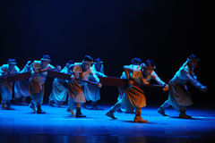Rowers-The second act of dance drama-Shawan events of the past Royalty Free Stock Image