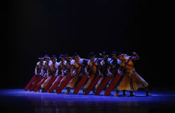 Rowers-The second act of dance drama-Shawan events of the past Royalty Free Stock Photos