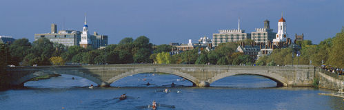 Rowers sur le fleuve de Charles, Photo stock