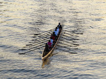 Rowers training on the river Stock Photography