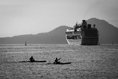 The rowers and the transatlantic Royalty Free Stock Photo
