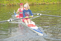 Rowers warming up for the Small Boats Head race. . Stock Photos
