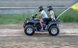 roweru brudny motorowy kwadrata sport Fotografia Royalty Free