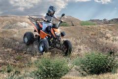 roweru brudny motorowy kwadrata sport Fotografia Stock