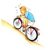 roweru chłopiec sadło Obraz Royalty Free