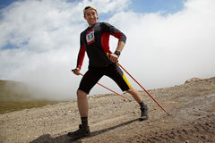 roweru competiton góry runnig Obrazy Royalty Free