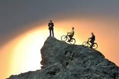 Roweru cyklista Obrazy Royalty Free