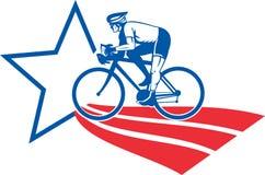 roweru cyklisty bieżni jazdy gwiazdy lampasy Fotografia Stock