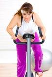 roweru działanie ciężarny statyczny kobiety działanie Zdjęcie Royalty Free