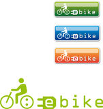 Roweru guzik, logo Fotografia Stock