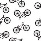 roweru illustartion wzór bezszwowy Zdjęcie Stock