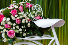 roweru kwiat Zdjęcie Royalty Free