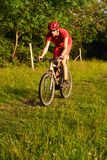 roweru mężczyzna góra Obraz Royalty Free