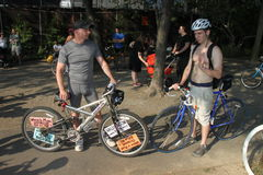 roweru nagi nowy przejażdżki świat York zdjęcie stock