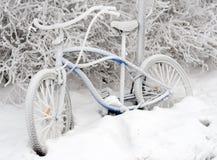 roweru śnieg Zdjęcia Stock