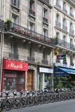 roweru Paris wynajem Obrazy Stock