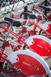 Roweru parking w Barcelona, Hiszpania Fotografia Royalty Free