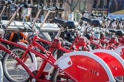 Roweru parking w Barcelona, Hiszpania Obrazy Stock