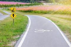 Roweru pas ruchu dla cyklisty Zdjęcie Stock
