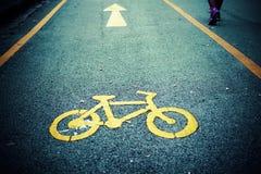 Roweru pas ruchu, droga dla bicykli/lów Fotografia Royalty Free