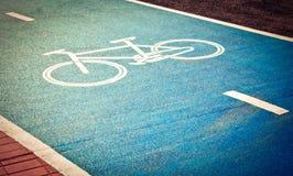 Roweru pas ruchu, droga dla bicykli/lów Obrazy Stock