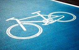 Roweru pas ruchu, droga dla bicykli/lów Zdjęcia Stock