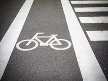 Roweru pas ruchu, droga dla bicykli/lów Fotografia Stock