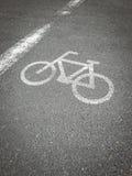 Roweru pas ruchu, droga dla bicykli/lów Obrazy Royalty Free