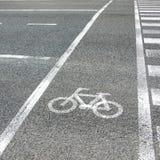 Roweru pasa ruchu asfaltu tekstura Obrazy Stock
