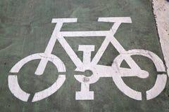 Roweru pasa ruchu znak, Saragossa obraz stock