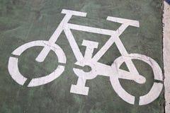 Roweru pasa ruchu znak, Saragossa fotografia stock