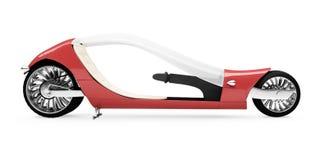 roweru przyszłości odosobniony czerwony widok Fotografia Stock