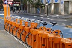 Roweru Santiago udzielenia rowerowa stacja w Santiago, Chile zdjęcia stock