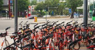 Roweru sklepu Shenzhen miasta czasu Porcelanowy upływ zbiory wideo