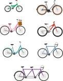 roweru wektoru set Zdjęcia Royalty Free