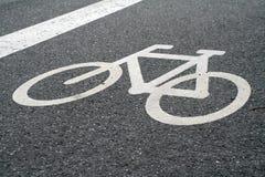 roweru znak Zdjęcie Stock