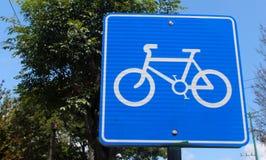 Roweru znak uliczny Fotografia Stock