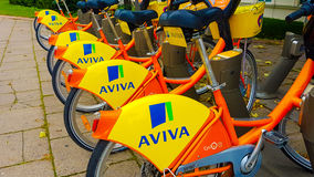 Rowery dla czynszowego Aviva fotografia royalty free