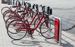 Rowery dla czynszu w centrum Moskwa Zdjęcie Stock