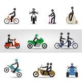 Rowery i motocykle Fotografia Royalty Free