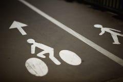 Rowery i pieszy pas ruchu Fotografia Royalty Free