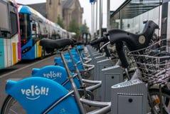 Rowery parkujący w Luksemburg Zdjęcie Royalty Free