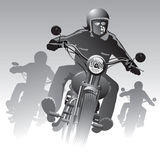 Rowerzyści na drodze Fotografia Stock